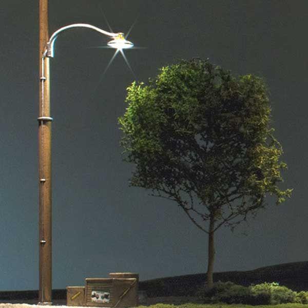 Woodland Scenics Just Plug O Scale Wooden Pole Street Lights Pkg Of 2 Wooden Poles Street Light Lights
