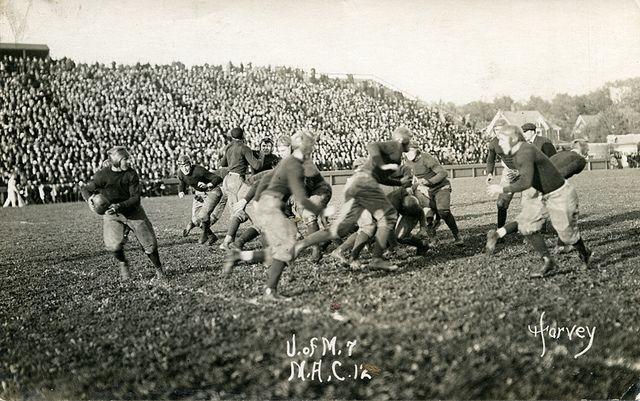 University Of Michigan Vs M A C Football Game 1913 Michigan State Football Msu Vs Michigan East Lansing