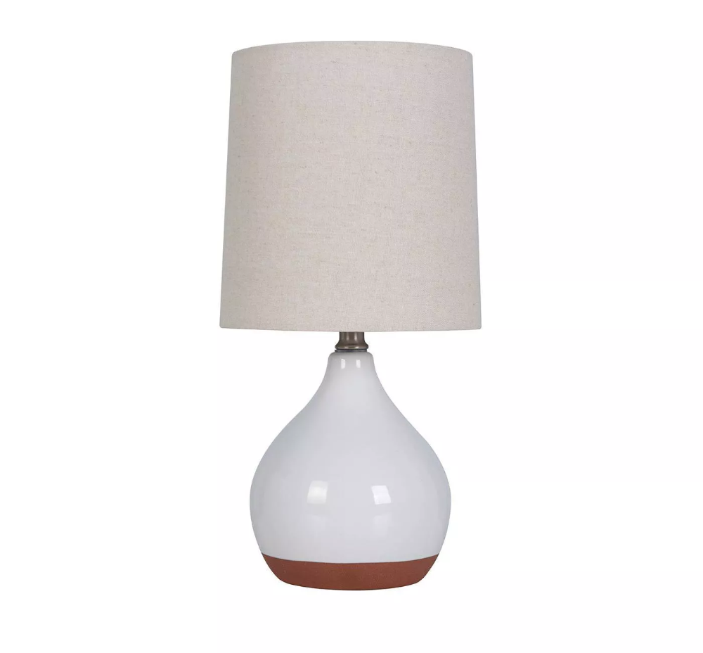 Threshold Ceramic Reactive Accent Lamp White Lamp Only