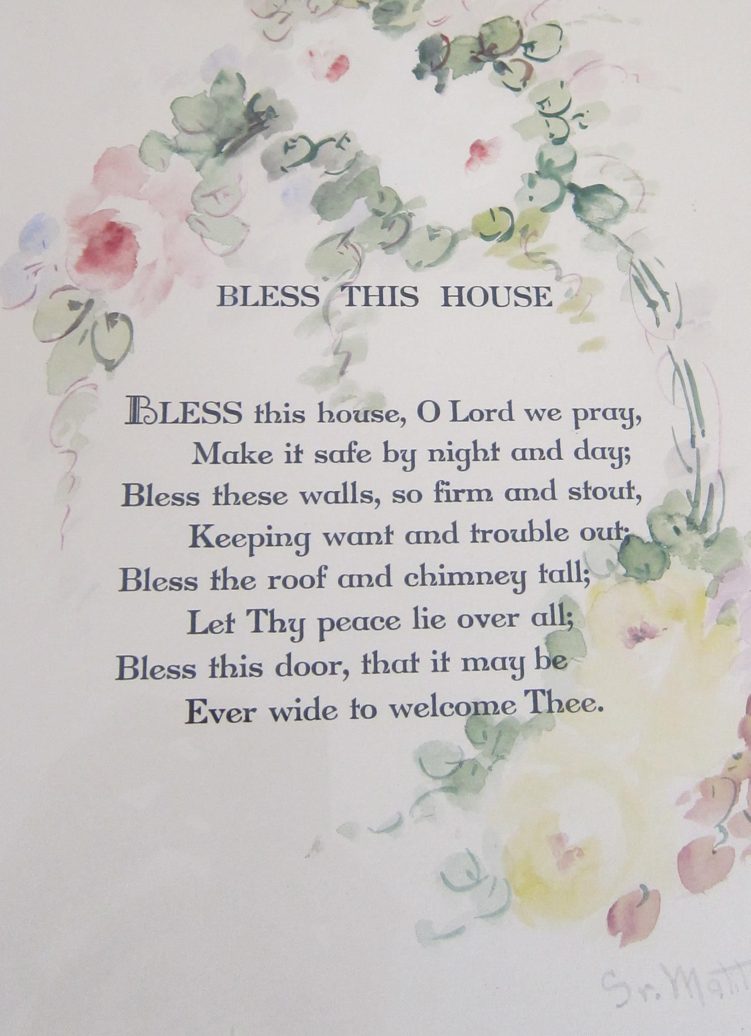 Bless This House Prayer Bless This House O Lord We Pray