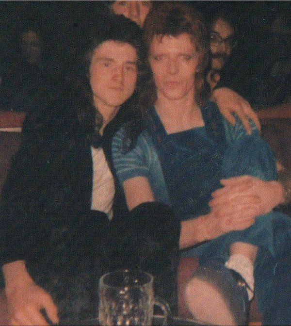 David Bowie and Les McKeown(Bay City Rollers) 1973