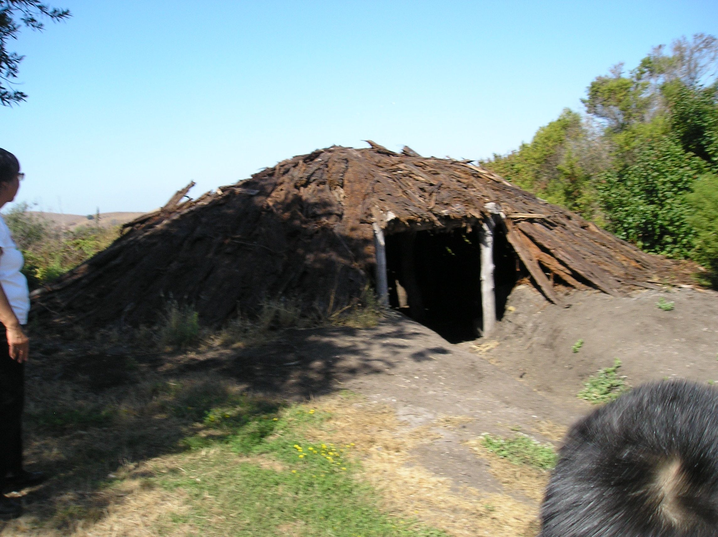This Is An Ohlone Pit House There Is A Hole At The Top To Let In