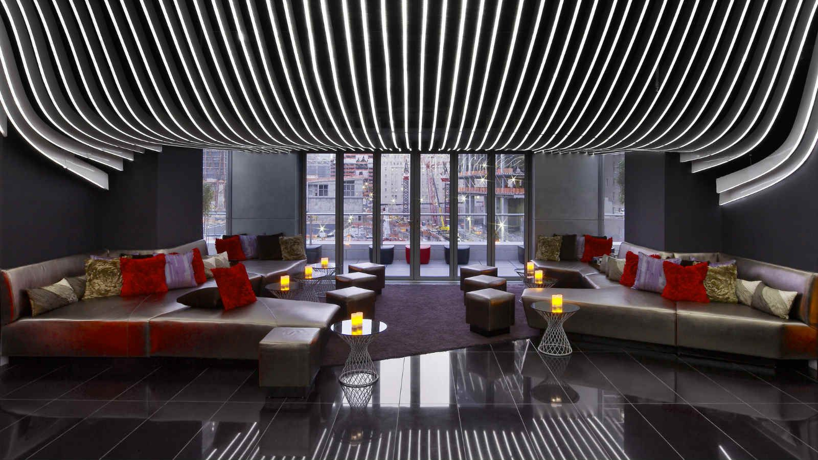 W New York Downtown Hotel Photo Gallery Downtown Living Downtown Hotels Living Room Bar