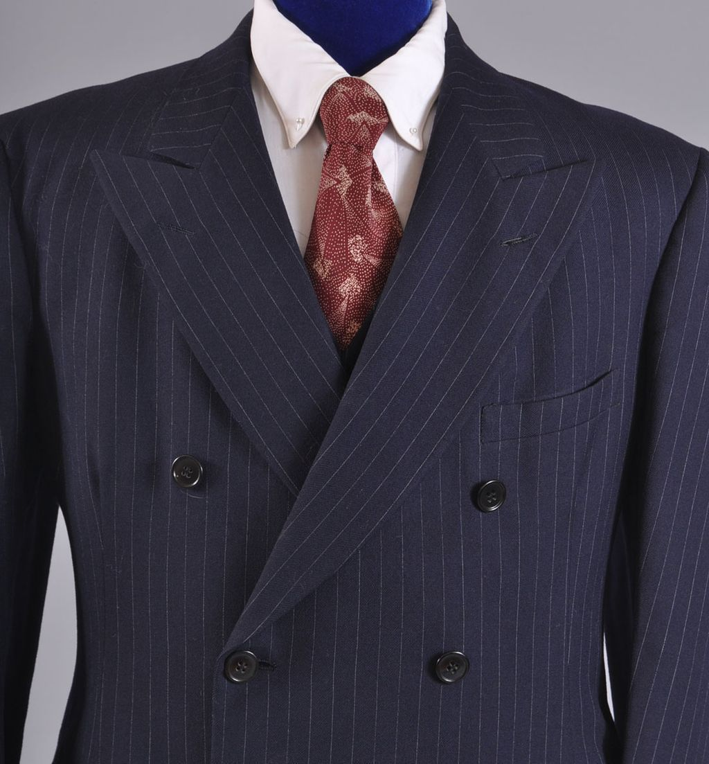 Men S Vintage 1930 S 3 Pc Double Breasted Suit Pin Stripe 2270 Removed Suits Double Breasted Mens Suits