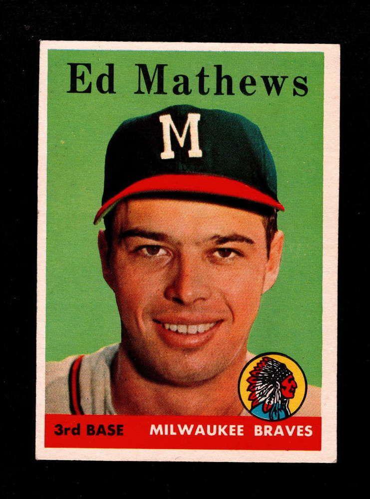 1958 topps 440 eddie mathews nm braves v4063 topps