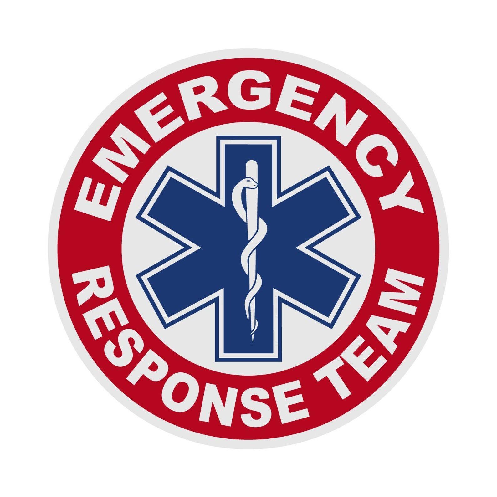 Emergency Response Team Round Sticker Firefighter Rescue Reflective Car Window Decal Sticker Star Of Life Fireman Emt In 2021 Emergency Response Team Emergency Response Reflective Decals [ 1588 x 1588 Pixel ]