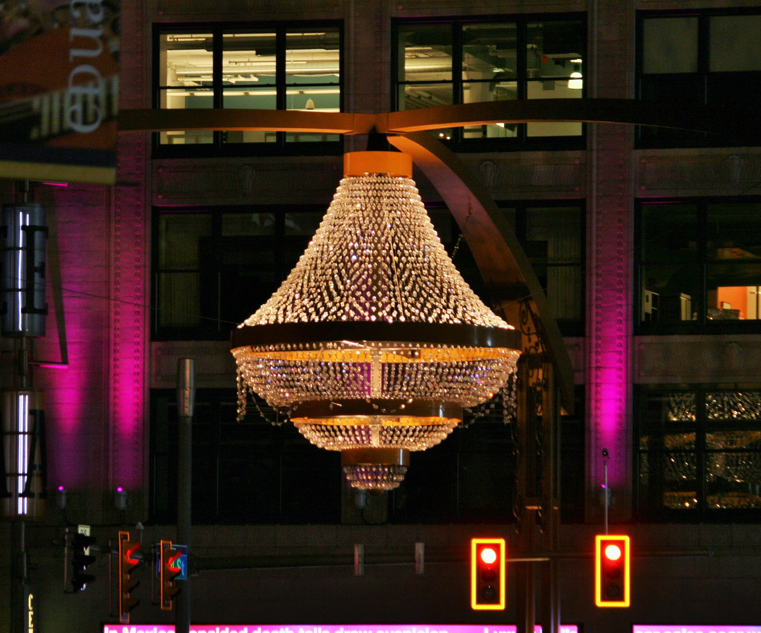 Playhouse Square chandelier Cleveland OH photos