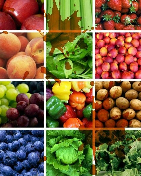 Dirty Dozen-These are the 12 foods that should be purchased Organic even if  nothing
