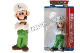 Luigi 9 inch PVC Figure with Arms Crossed, White Hat (in box)