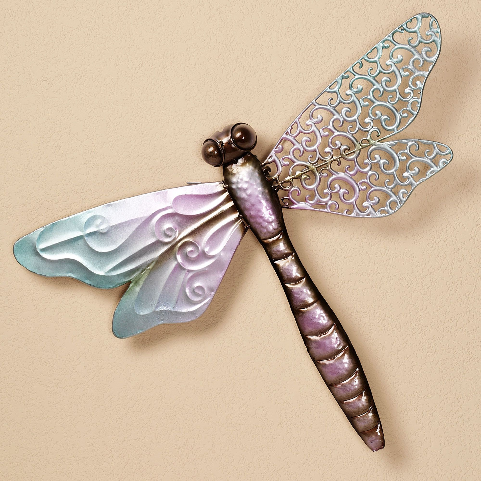 Dragonfly Art Home Scrolling Wing Wall Multi Pastel