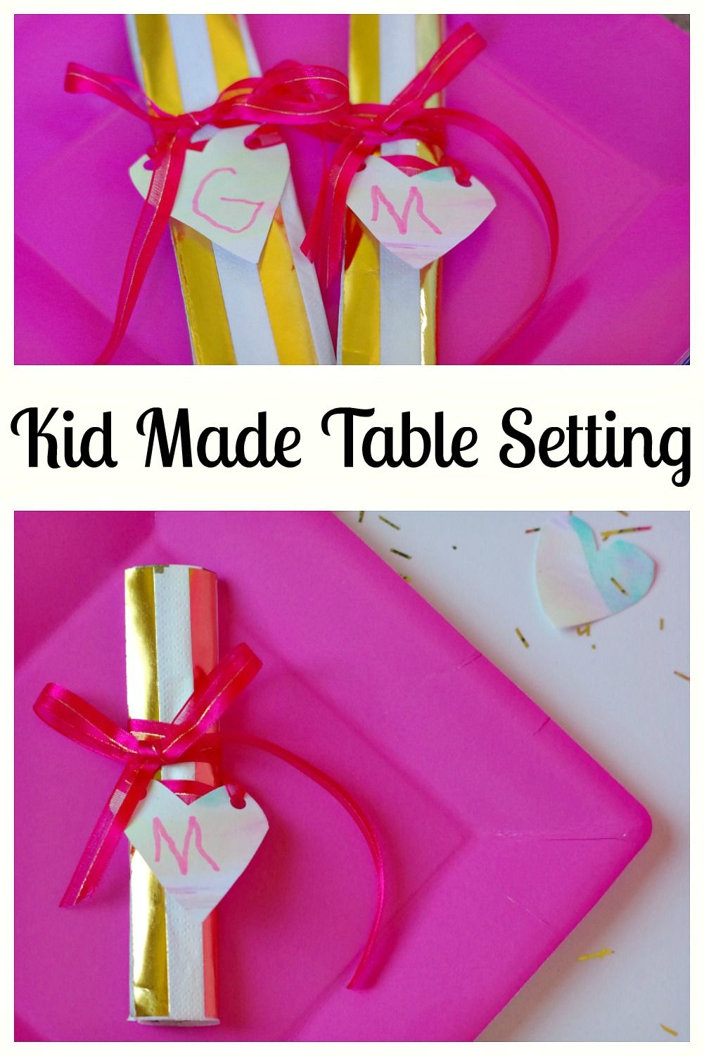 Kid Made Table Setting For Mother\'s Day | Activities, Birthdays and ...