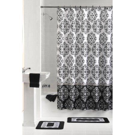 Discontinued Mainstays 15 Piece Bathroom Sets Gray Black And