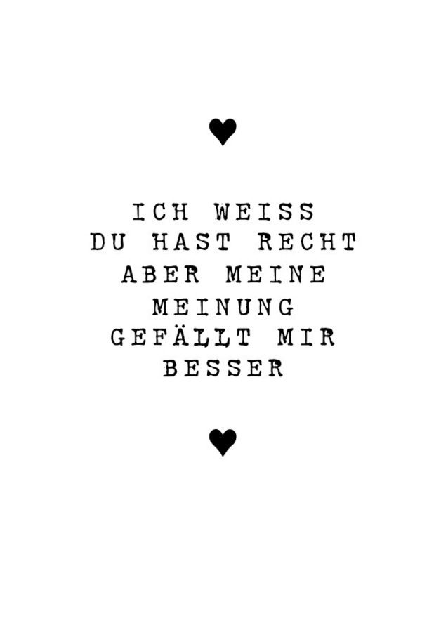 Digitaldruck Druck Ich Weiss Du Hast Recht Valentinstag Ein