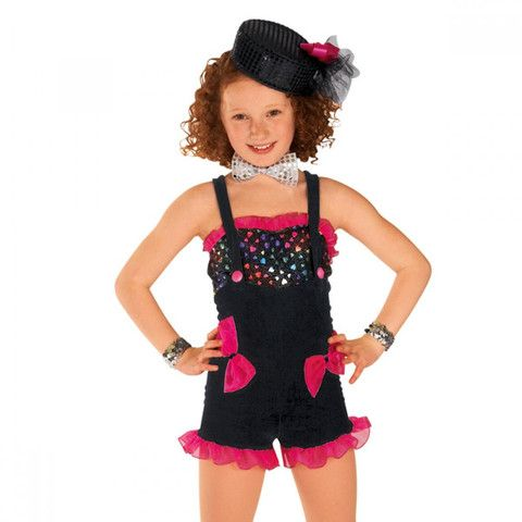 0649368a6e14 Black & Pink Heart Dungarees dazzle-dancewear.co.uk | dance | Dance ...