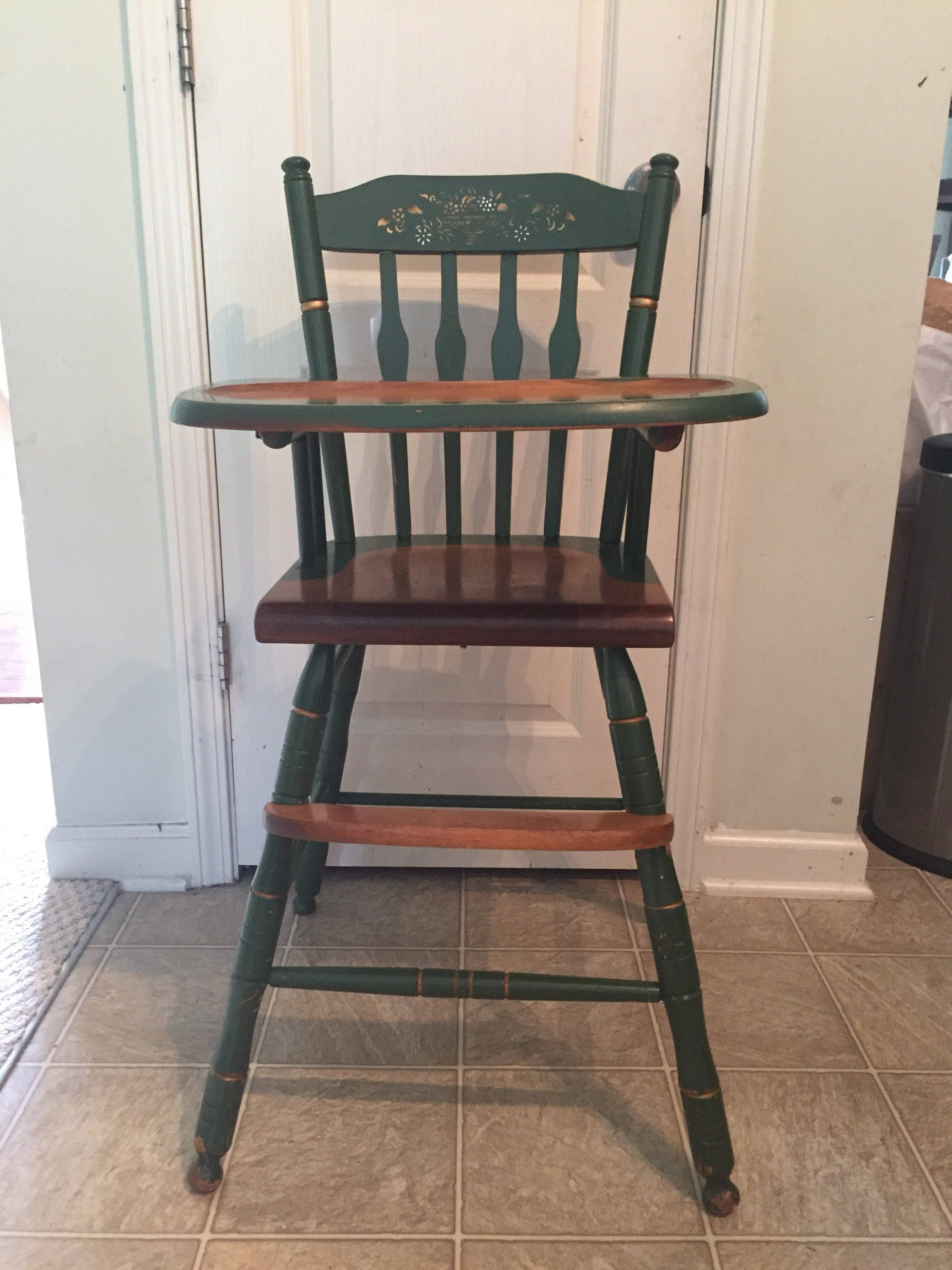 Hitchcock High Chair, Vintage Wooden High Chair, Jenny Lind, Antique High  Chair,