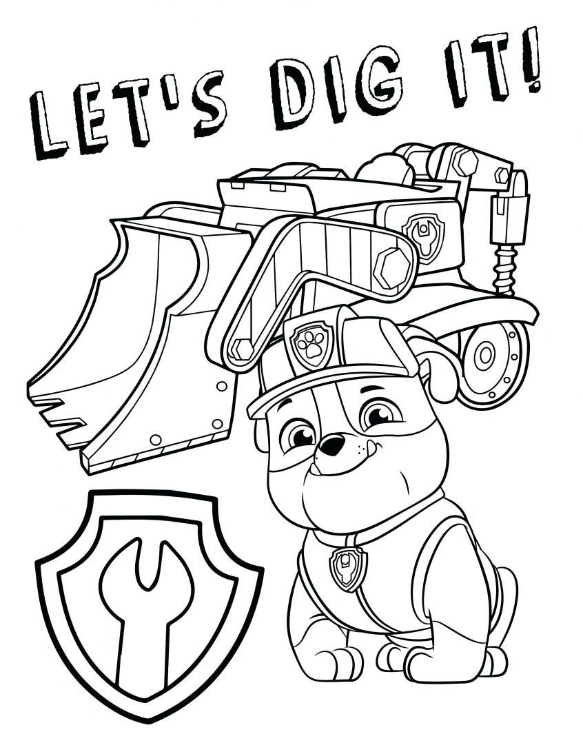 Paw Patrol Coloring Page Chase in 2020