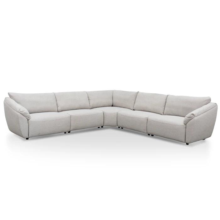 Hoffman Fabric Corner Sofa Hazel Beige In 2020 Beige Interior Corner Sofa Fabric Sofa