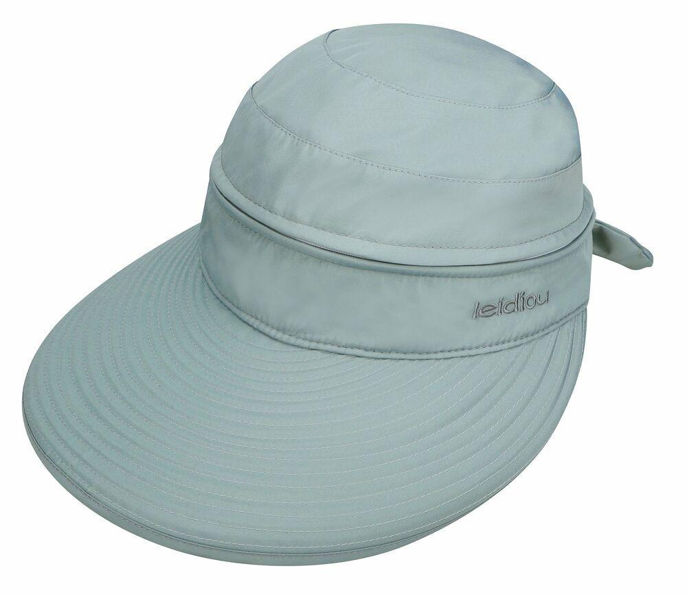 f2ffcc985 Travel Women UPF 50+ UV Sun Protect Convertible Beach Hat Visor ...