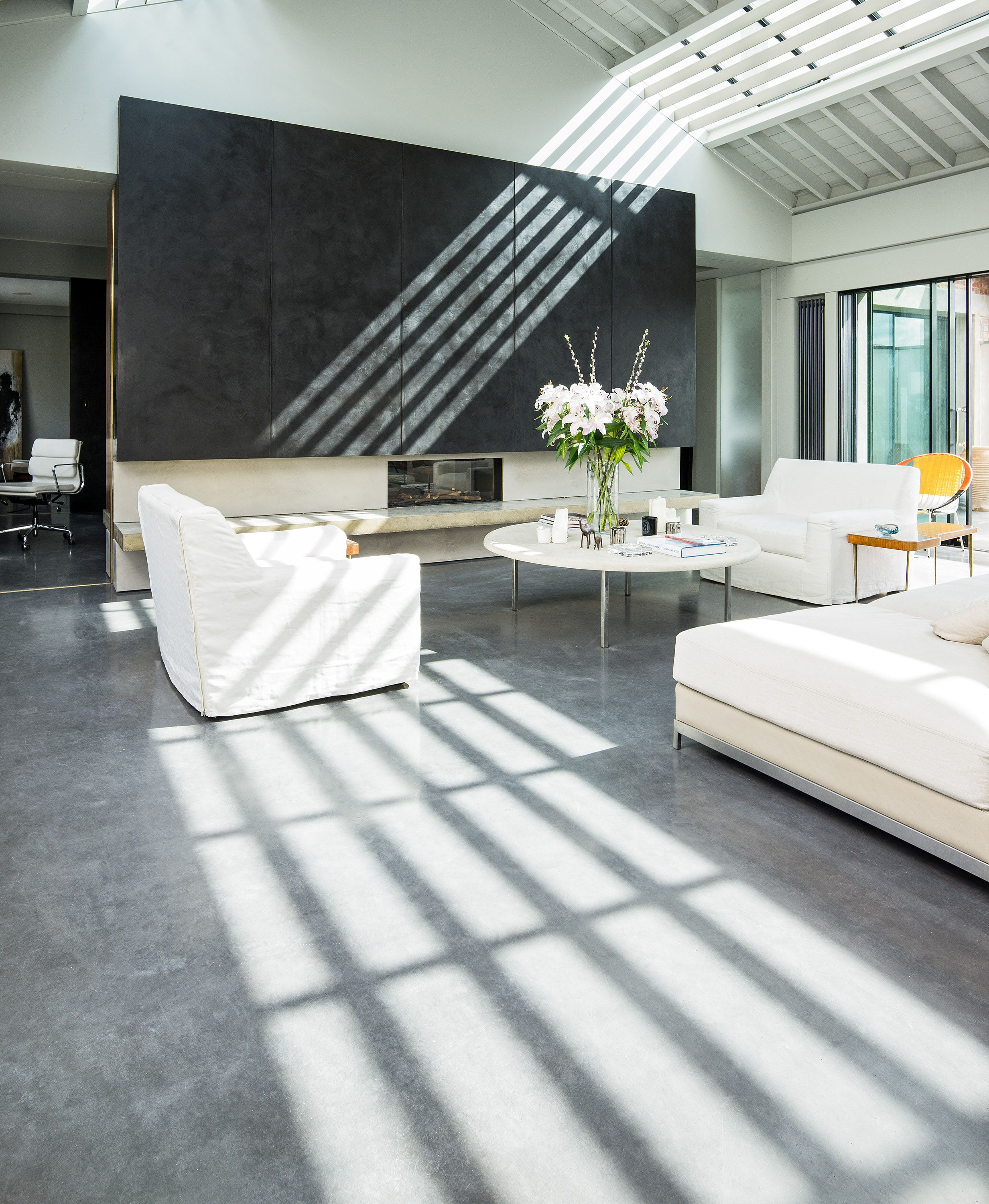 Mayfair Grey Polished Concrete Floors In House London Apartment West