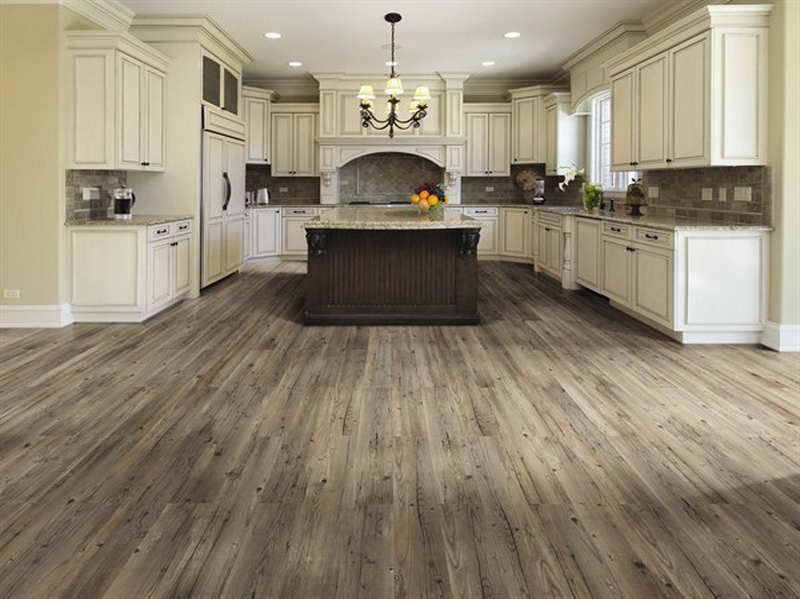 Cabinet Color Vinyl Flooring That Looks Like Wood Look With Luxury Chandelier