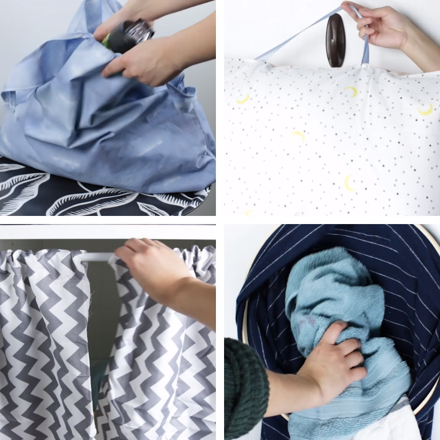 4 Clever Ways To Upcycle Pillowcases #upcycle #DIY