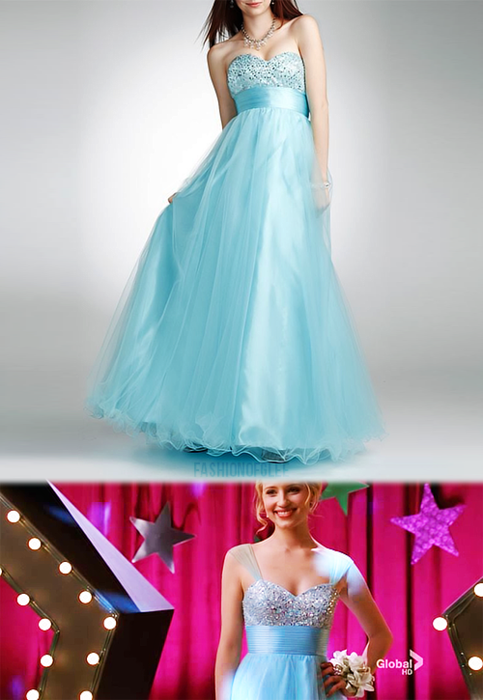 Quinn\'s prom dress on Glee was perfect | Dress up | Pinterest | Glee ...