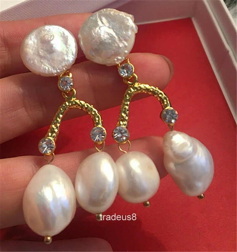 Baroque Cultured Freshwater Pearl Beads Nuggets natural