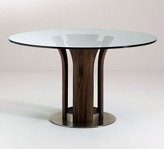 Glass Wood Dining Table With impressive round glass and wood dining table and chairs - home and