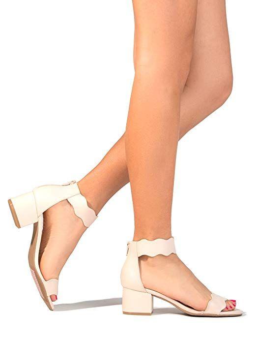 Mimi Adams Suede Open Toe Ankle Strap Sandal Trendy Kitten
