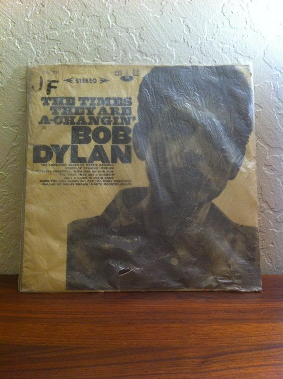 Bob Dylan The Times They Are A Changin Rare Taiwan Etsy Bob Dylan Vinyl Record Album Rare Vinyl Records