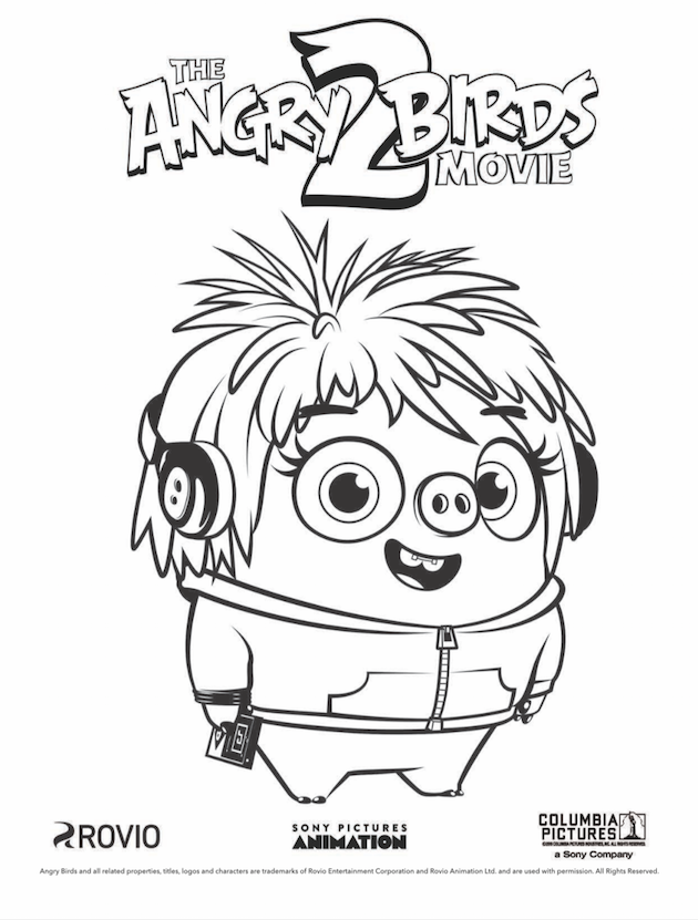 The Angry Birds Movie 2 In 4dx Printables Coloring Books Cartoon Coloring Pages Cartoon Birds