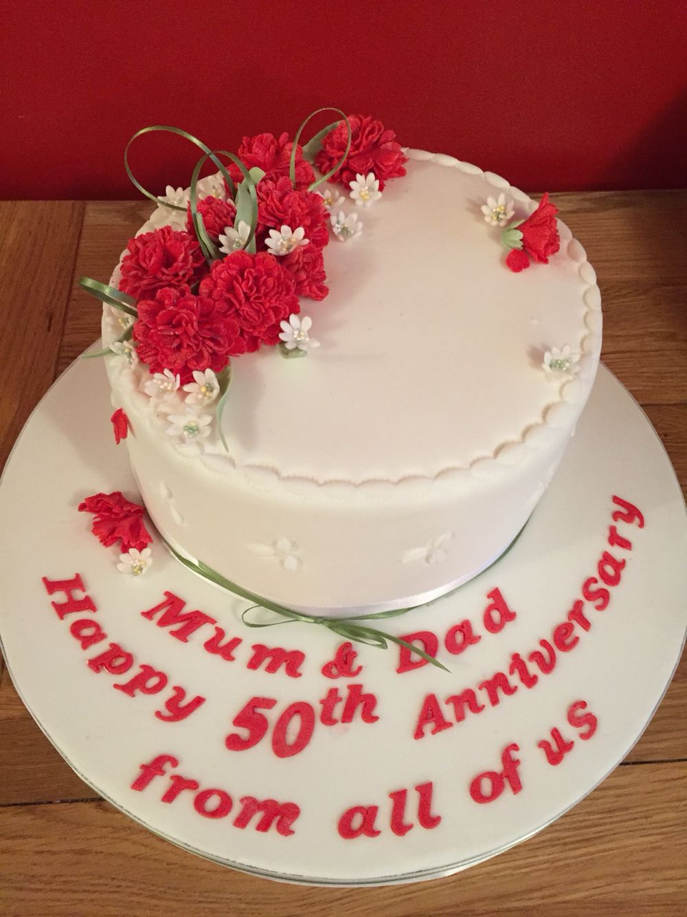 Carnation Flower Anniversary Cake Edible Flowers Cake Cake Flower Cake