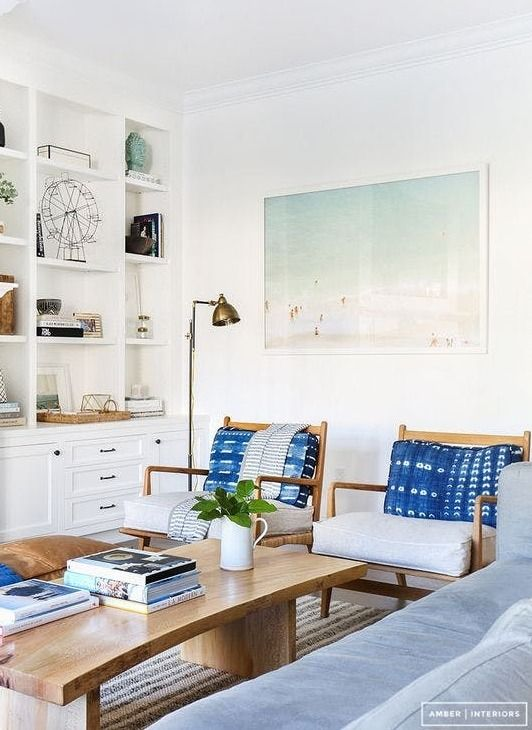 Here Are 21 Fresh Ways To Use Varying Shades Of Blue In Your Own Home Whether You Decide It The Furnishings Walls Fabrics Or Accessories