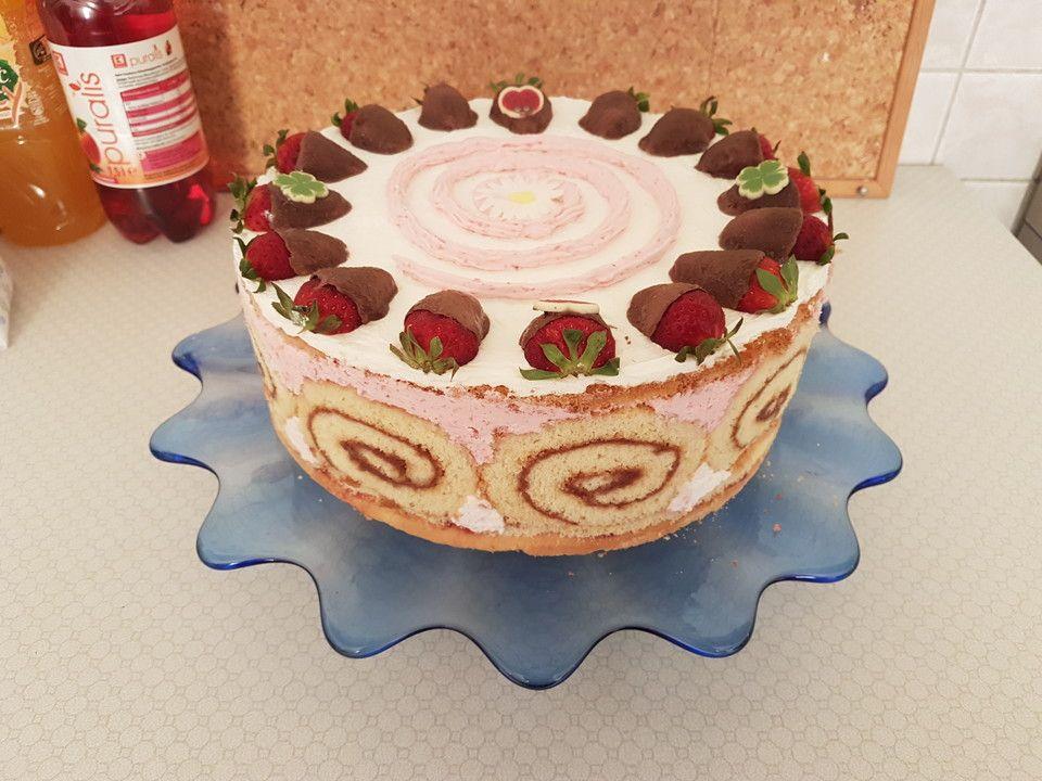 Erdbeer Schmand Torte Rezept Kuchen Und Torten Lebensmittel Essen Dessert Ideen
