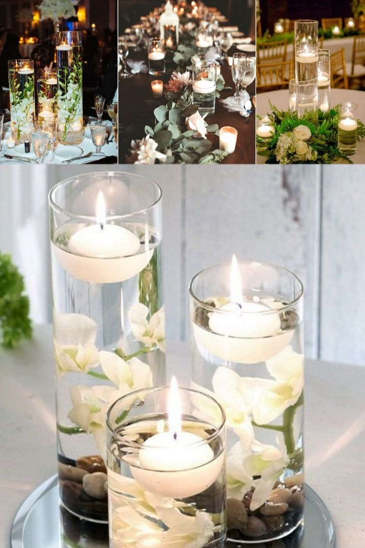 20 Floating Wedding Centerpiece Ideas In 2020 Floating Candle