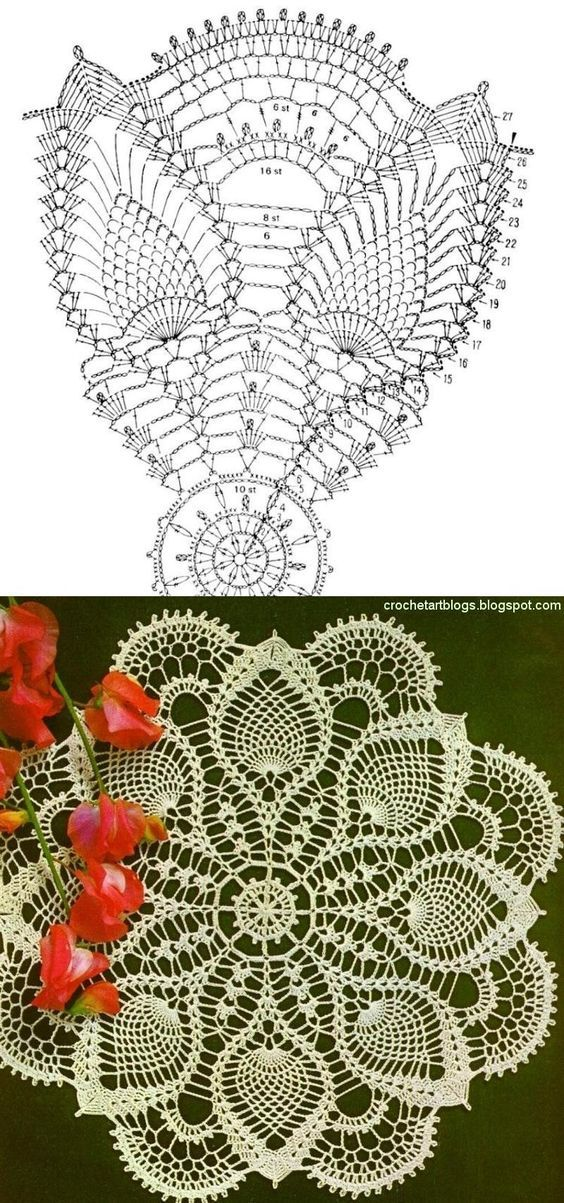 Lots of free crochet doily patterns here.: | ideas | Pinterest ...