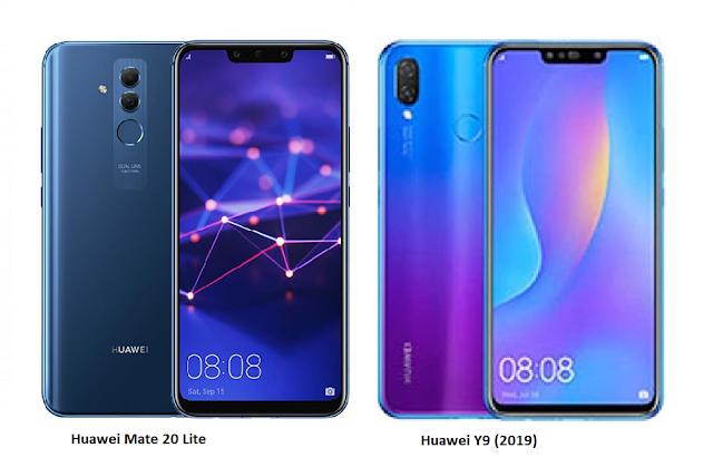 TSPN1: Huawei Y9 (2019) Vs Huawei Mate 20 Lite Comparison