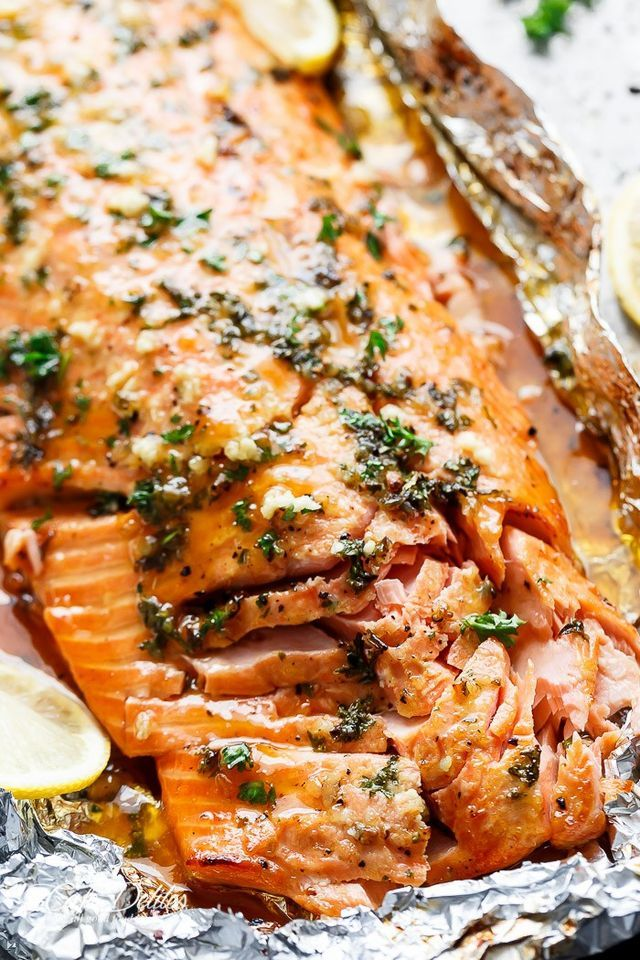 Honey Garlic Butter Salmon In Foil (Cafe Delites)