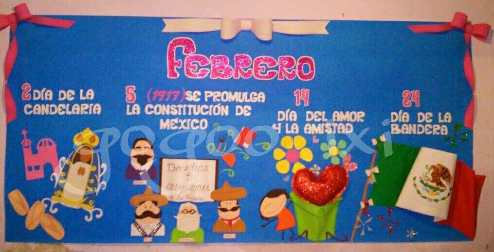 Periodico mural febrero Mis trabajos