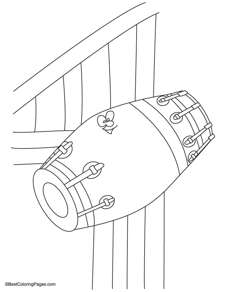 Dholak Coloring Page Coloring Pages Coloring Pages For Kids Color