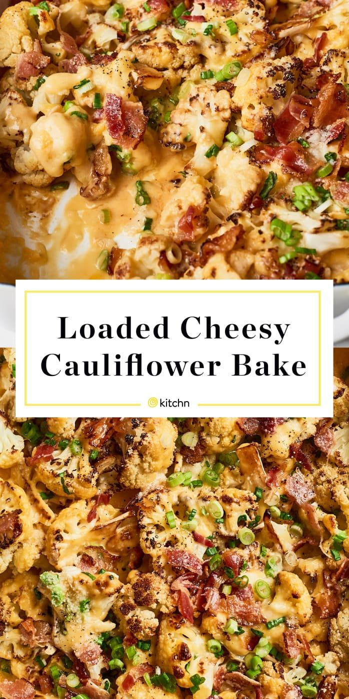 Recipe: Loaded Cheesy Cauliflower Bake #loadedcauliflowerbake