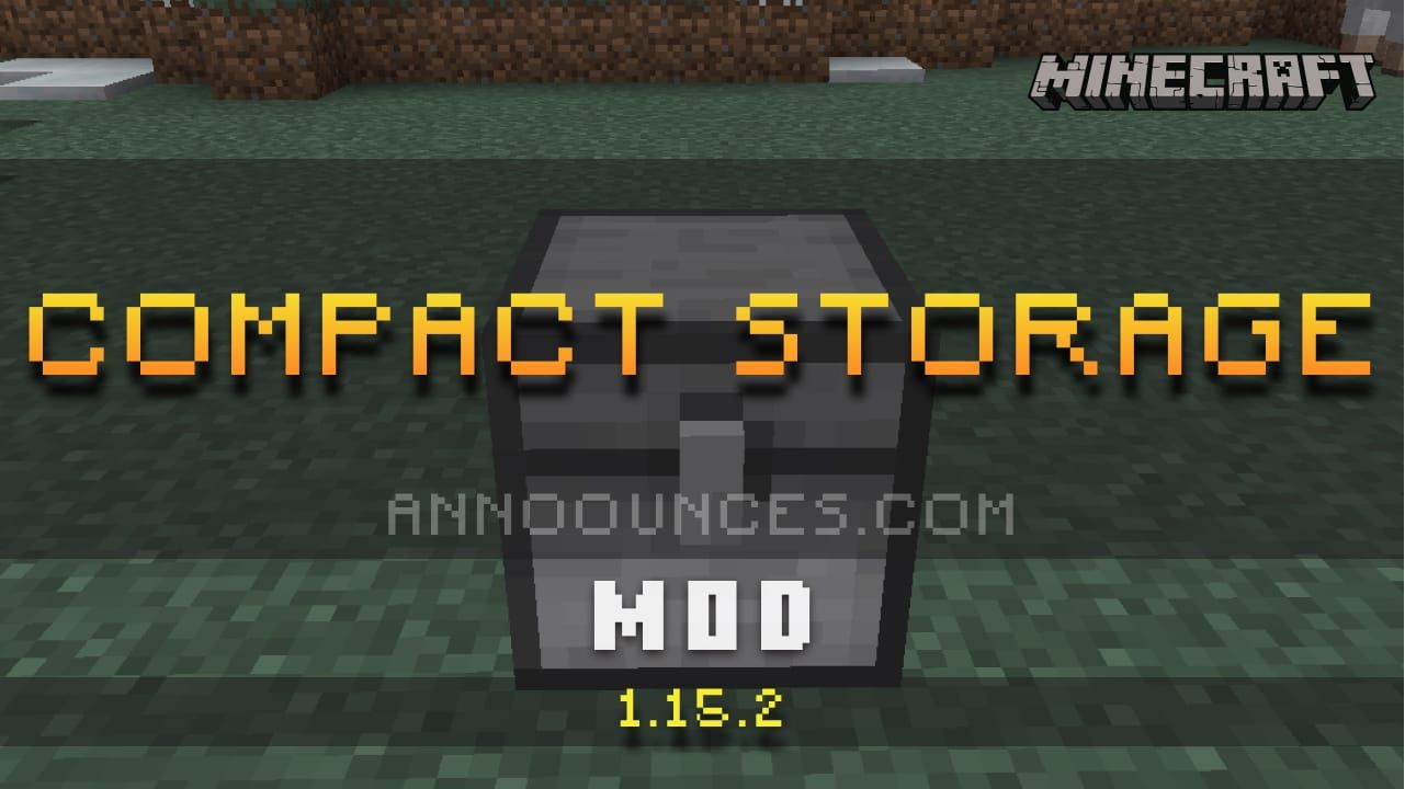 Compact Storage Mod in 2020 Compact storage, Mod