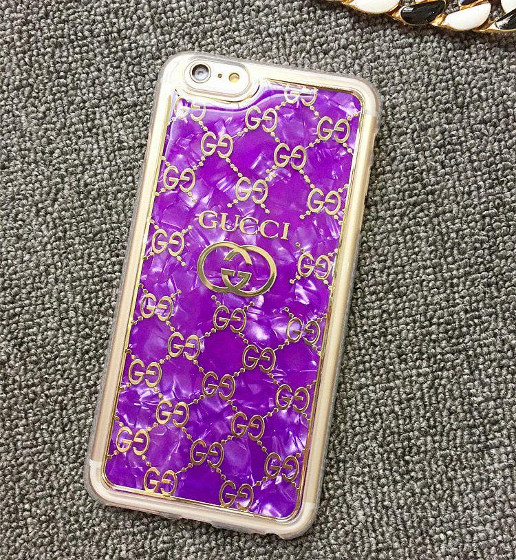 Gucci soft case for iphone87s76s6plus purple best