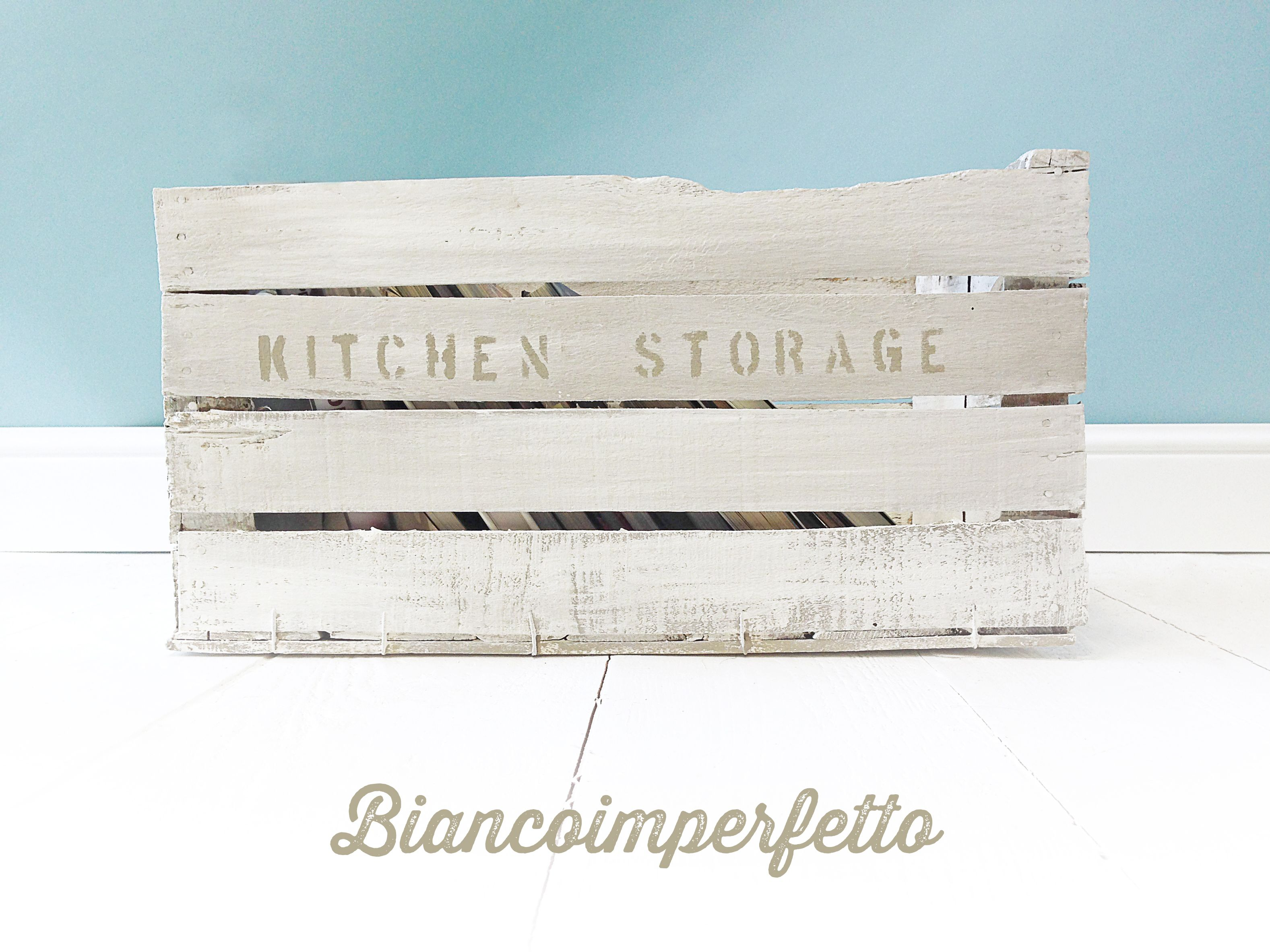 Woodbox bicolor, kitchen storage