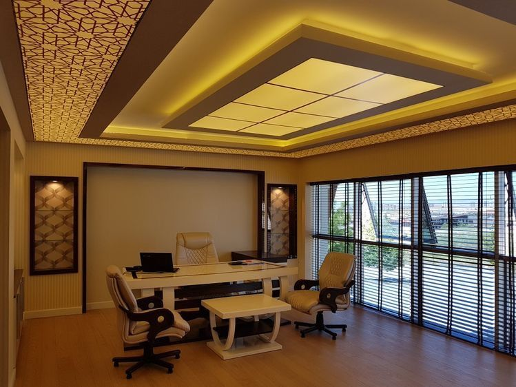 احدث ديكورات جبس بورد 2018 Office Interior Design Ceiling Design Living Room Pop False Ceiling Design