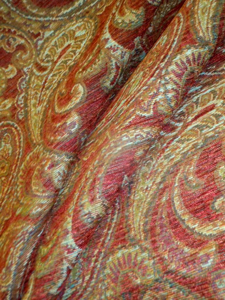 Pattern Morocco Color Paprika Upholstery Fabric In 2020 Home