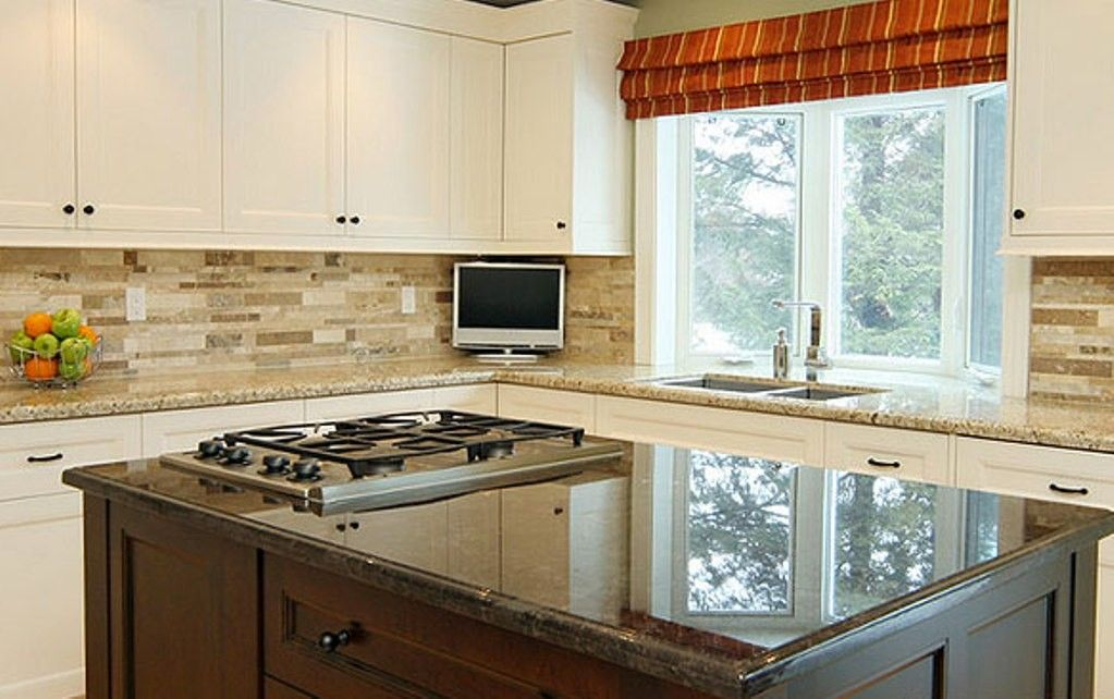 Nice Backsplash Ideas For White Kitchen Cabinets Part - 5: The Backsplash Ideas With White Cabinets The 1st Kitchen Is A Set Of Kitchen  Lift Up