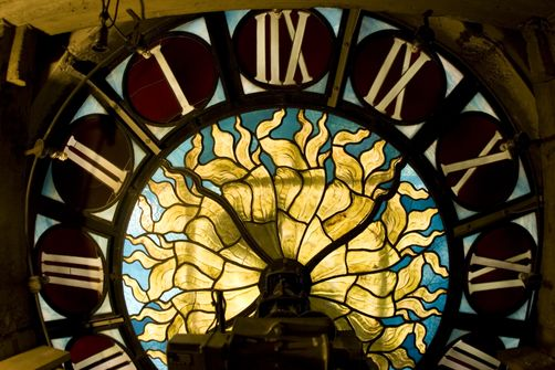 Photography  Stained glass clock, Grand Central Station