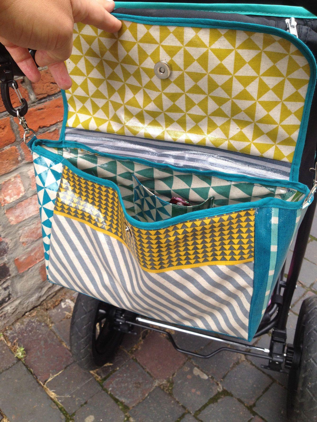 kinderwagen organiser in t rkis und petrol und senfgelb n hen pinterest. Black Bedroom Furniture Sets. Home Design Ideas