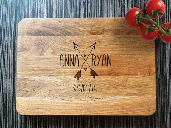 Hochzeit Geschenk Personalisiert Cutting Board Pfeile Boho Style